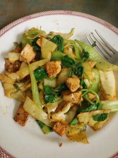 Step 2. Chicken and veggie stir fry