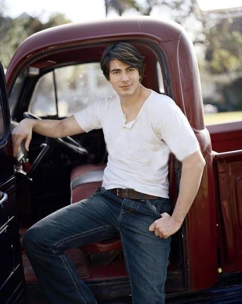 Brandon Routh aka superman...mostly i just like this truck (; haha