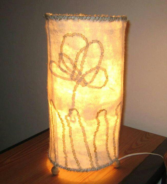 Lámpara de fieltro Luz en flor.