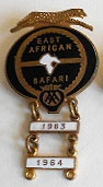 East African Safari Rally - Competitor Lapel Badge - 1963/64
