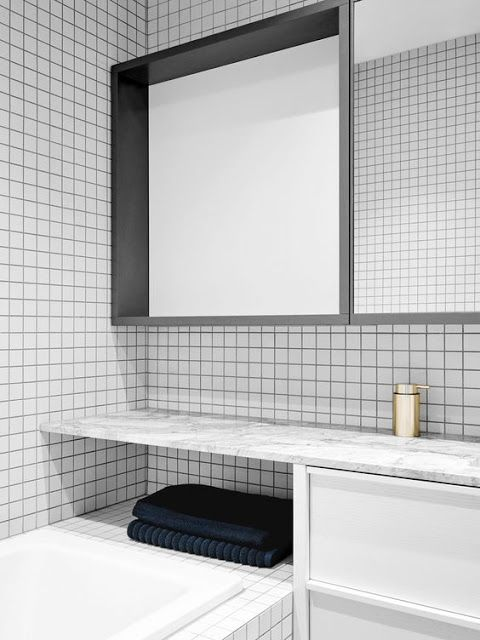 Using square tiles in the bathroom | Norse White Design Blog