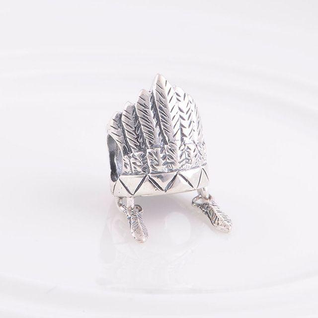 Подходит пандора браслет 925 серебро ювелирные изделия бусины древних шляпа подвески для ес ожерелье цепь женщина своими руками подарок ювелирные изделия