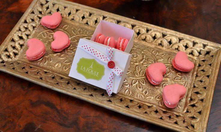 Heart Macarons by Patisserie La Foule