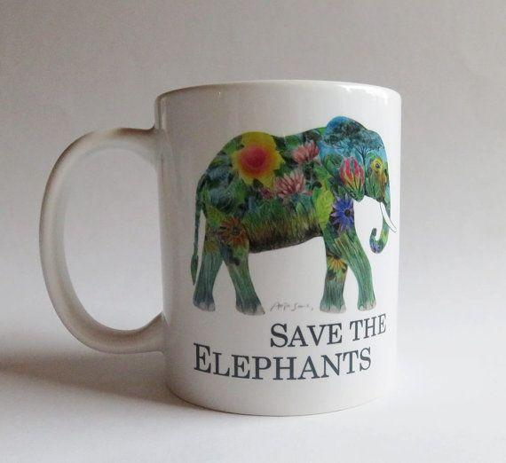 Cup elephant Save the elephants
