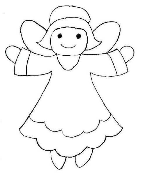 patrones y plantillas de angeles de fieltro-1