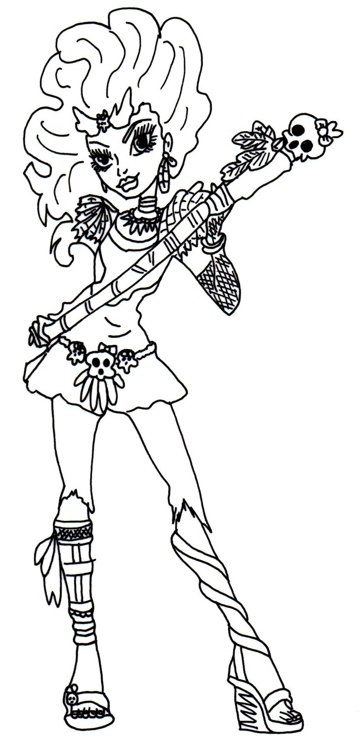 236 best monster high coloring pages images on pinterest