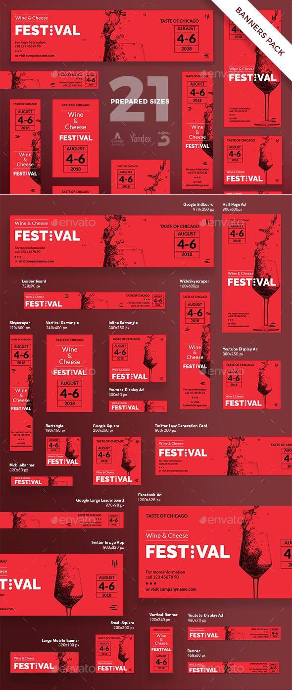 Wine Festival Banner Pack Wine Festival Banner Design Inspiration Web Banner Design
