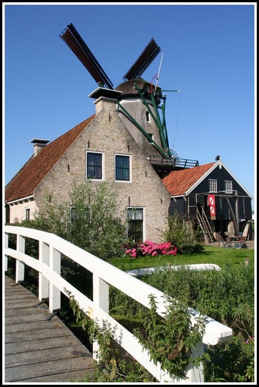 Mill in IJlst, Netherlands.  Go to www.YourTravelVideos.com or just click on photo for home videos and much more on sites like this.