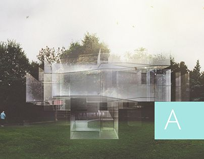 Architecture, Labyrinth, Render, Glass