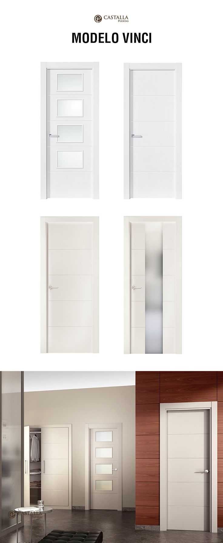 puerta de interior con cristal modelo vinci puertas castalla para ms informacin escribenos a
