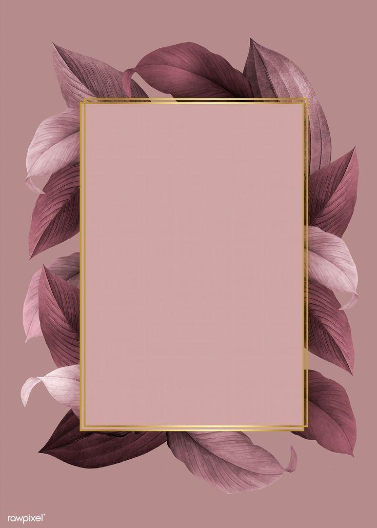 Goldener Rahmen auf einem rosa grünen Hintergrund Vektor | f … – #Background #Frame #Gold ….