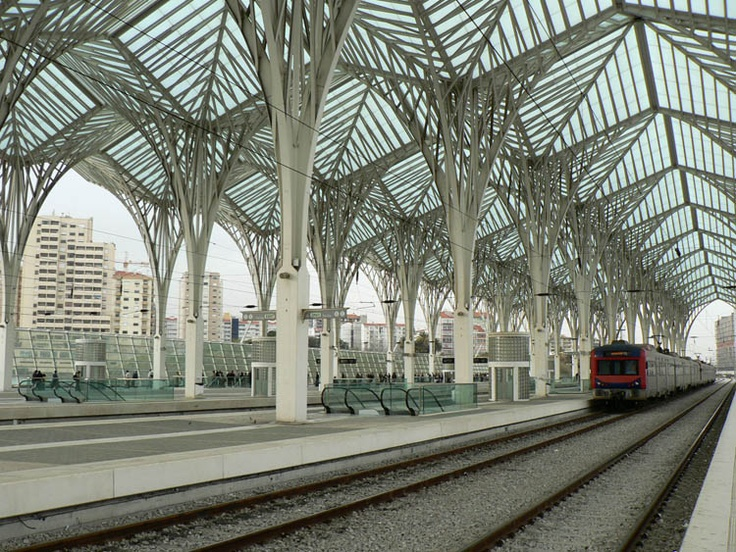 Orient Station in Lisbon by Santiago Calatrava