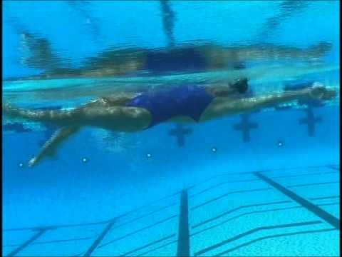 This is the most excellent video on Backstroke I have ever seen!...although, I'm not sold on her head position. hmmmm.
