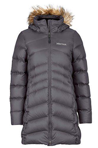 Marmot Montreal Women's Knee-Length Down Puffer Coat, Fill Power 700,Dark Steel,Medium.