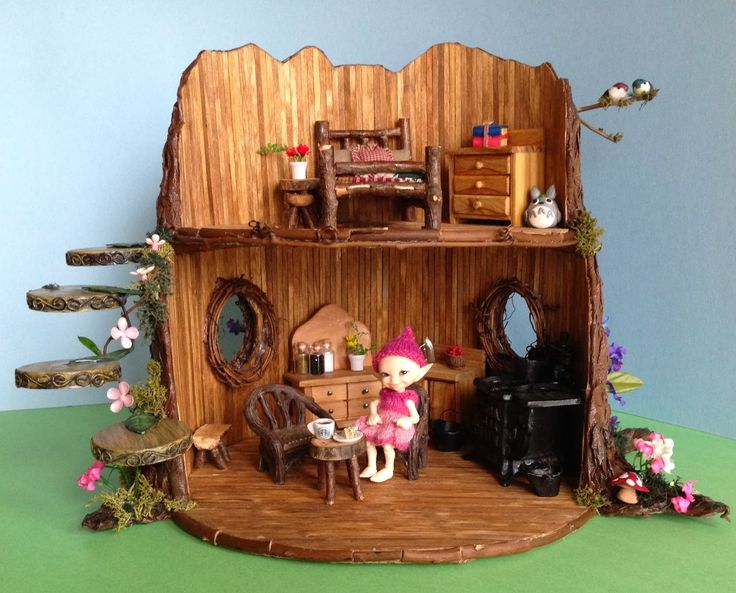 Once Upon A Doll Collection : BJD Fairy Tree Dollhouse Craft Project - this is the cutest little thing!!