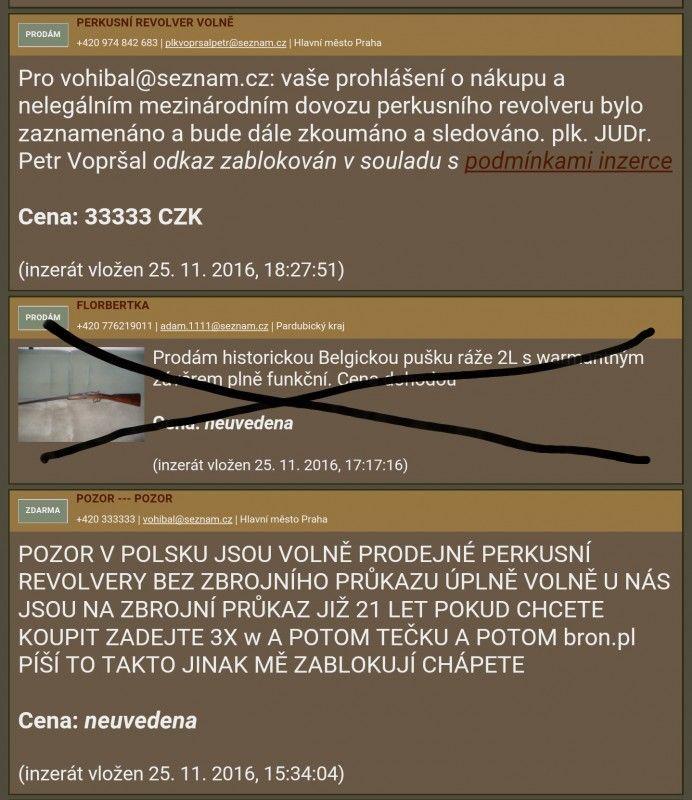 !!!!!!!! přání do nového roku :-) !!!!!!! - Škoda že pán plk. JUDr. Petr Vopršal neprojevil svojí rychlou iniciativu v prodeji zbraní slovenských expanzek kterých se za 5 let v Evropě prodalo tisíce kusů. 5 let policie ČR koukala jak se kalašnikovy SA58 kulomety atd. v orig. full auto verzi prodávali a nic s tím nedělali. Teď je situace taková že policie nemá kontrolu nad obrovskou masou zbraní. A teď je policie tak rychlá a chytrá že jednu osobu bude sledovat že tu napsal že v Polsku jsou…