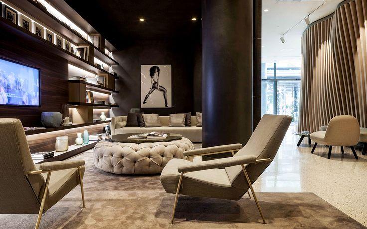 Pouf in caiptonnè in alcantara con top in vetro retrolaccato ad uso tavolino. #interiordesign #madeinitaly #furniture
