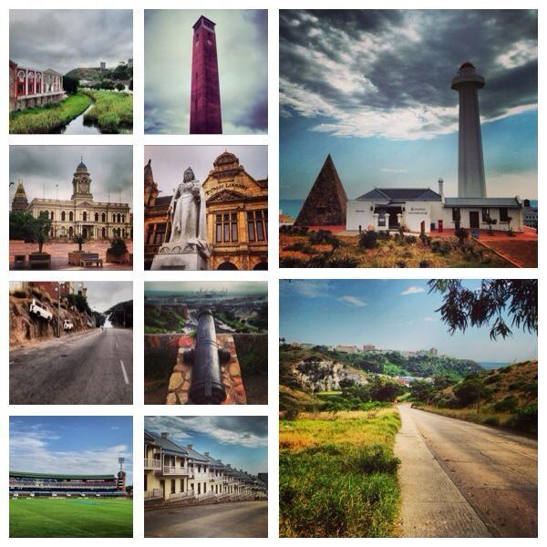 A montage of Port Elizabeth architecture