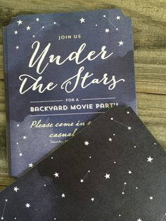 Create custom invitations for a movie night under the stars!