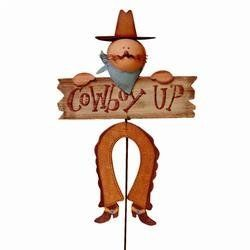 Cowboy Up Yard Stake 1/2 IN. x 14-1/4 IN. x 43 IN. by Hanna's Handiworks , Llc. $23.71. Cowboy up yard stake to decorate your farm, ranch, or western style home. Simply place in the ground and wait for the compliments to come up once your guests see these.. 1/2 IN. x 14-1/4 IN. x 43 IN.. Cowboy up yard stake to decorate your farm, ranch, or western style home. Simply place in the ground and wait for the compliments to come up once your guests see these.