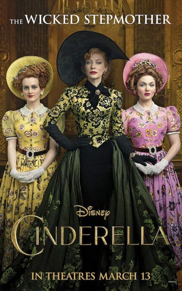The wicked stepmother: Cate Blanchett indulges her sinister side as she embodies the evil stepmother in a poster for Disney's Cinderella remake