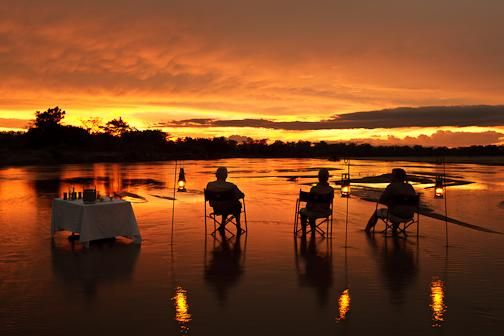 sundowners in the river - need we say more?