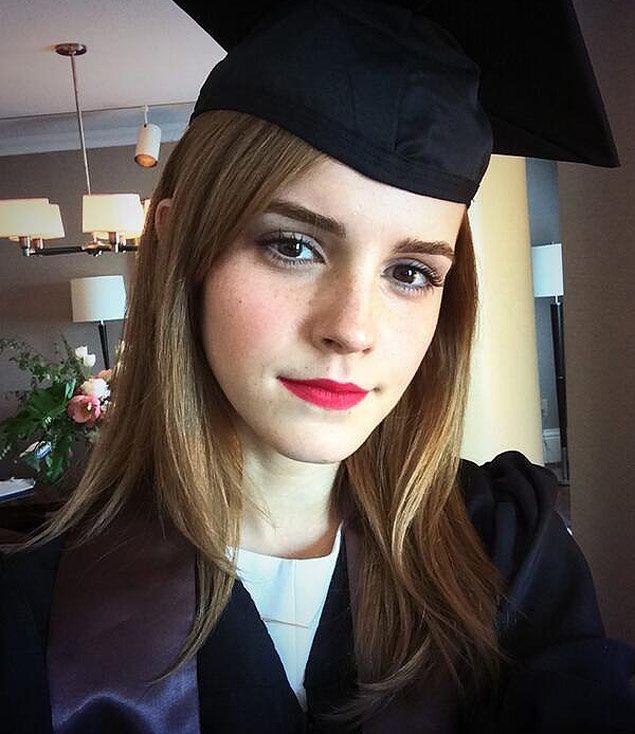 A atriz de 'Harry Potter', Emma Watson se forma em literatura inglesa.