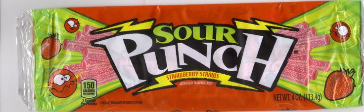 """Sour Punch Candy """"Strawberry Straws""""..American Licorice Company Saved by Janice Marshall"""