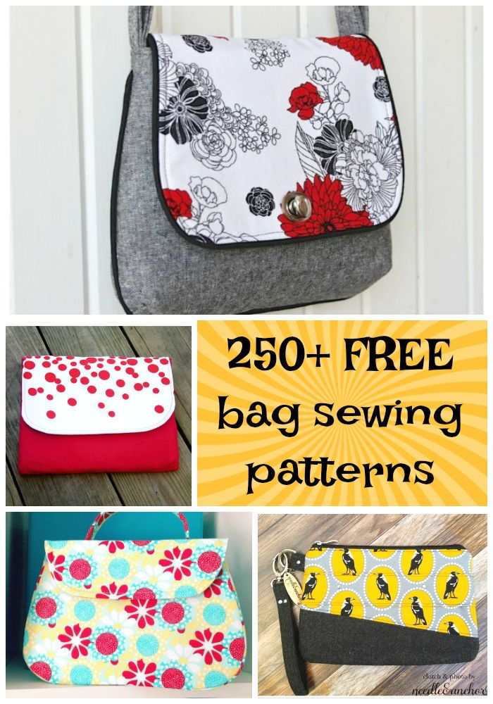 250+ free bag and purse sewing patterns. Zipper bags 5761bfa140967