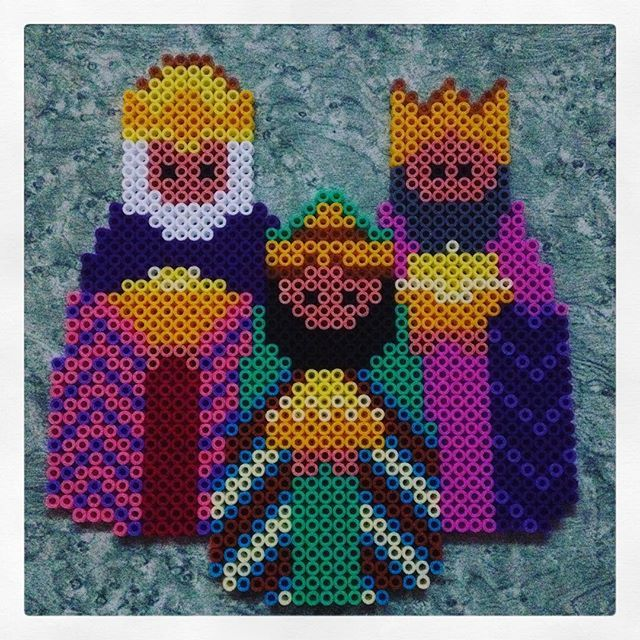 Three Wise Men - Christmas hama perler beads by michelebayolsen - Pattern…