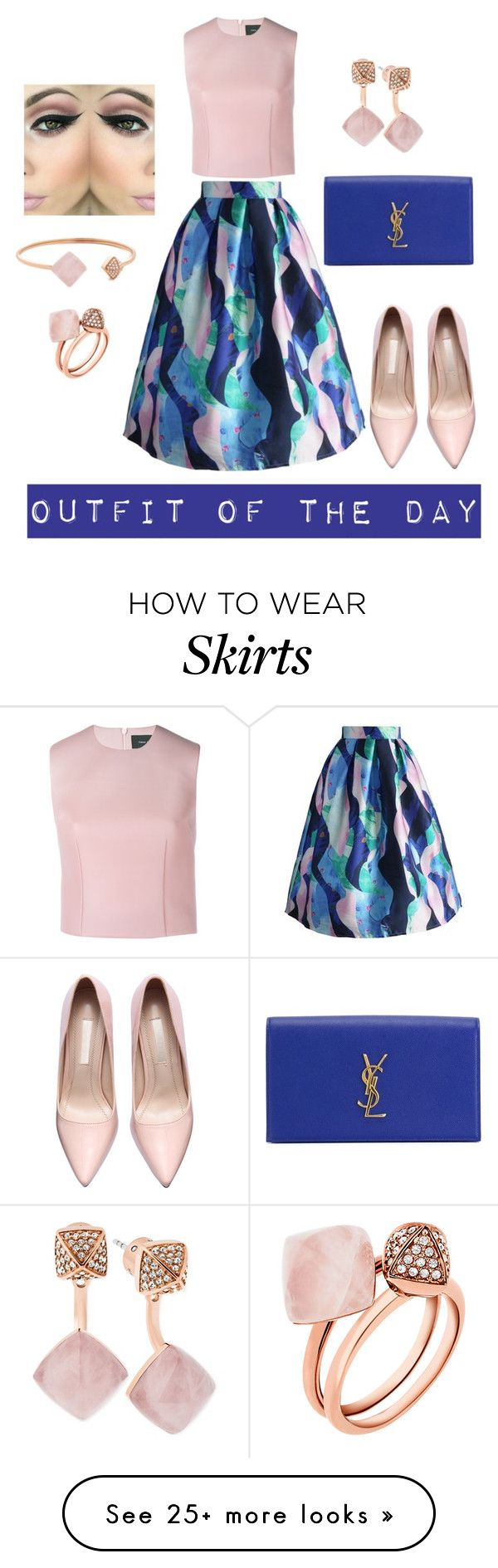 """""""Midi ways to wear the Skirt"""" by stephstyle76 on Polyvore featuring moda, Chicwish, Simone Rocha, Michael Kors, Yves Saint Laurent, women's clothing, women, female, woman e misses"""