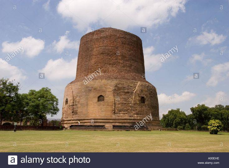Dhamekh Buddhist Stupa Ashoka King Era Sarnath Varanasi Uttar Pradesh Stock Photo, Royalty Free Image: 5622429 - Alamy