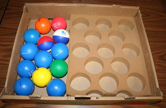 Squishy Ball With Holes : 1 to 1 Correspondence The student places each squishy ball on the left into a circular hole in ...
