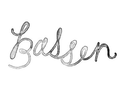 Bassen / Tuesday Bassen: Design Inspiration, Watercolor Letters, Hands Drawn Fonts, Tuesday Bassen, Hands Letters, Graphics Design, Graphics Banners, Cursive Fonts, Bassen Graphics