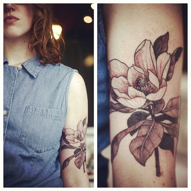 Alice rules botanical tattoo