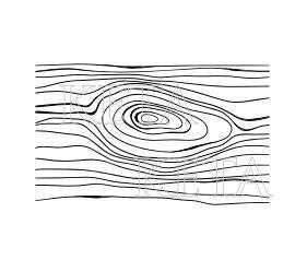 KETA 720/gumové Cling razítko Kresba dřeva
