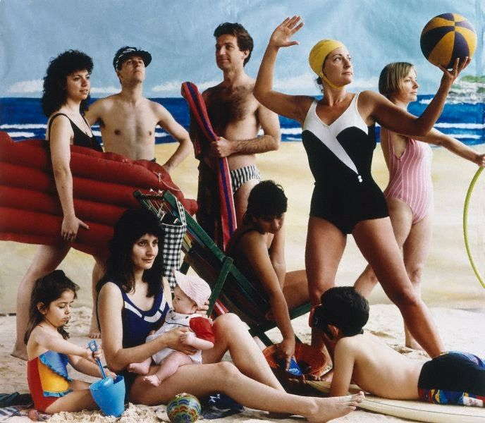 The bathers, from the series Bondi: playground of the Pacific by Anne Zahalka