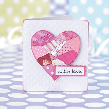 patchwork heart, template on another page including cat