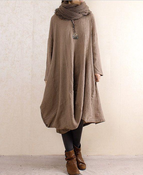 3-color Linen shirt Cotton shirt Loose blouse Long sleeve top coat sweater…