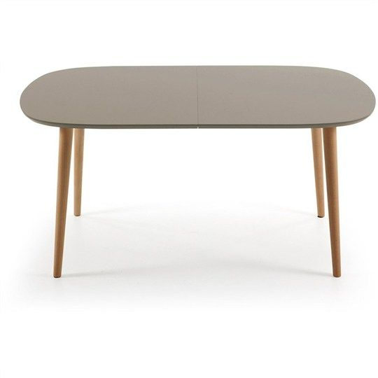 Oakland 160-260cm Extendable Oval Dining Table - Brown/Natural - Dining Tables - Dining