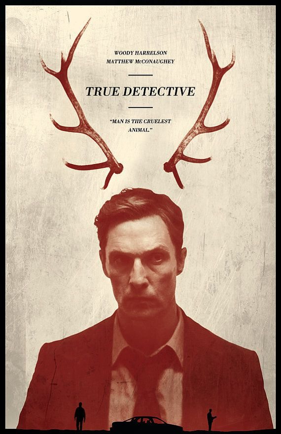 Véritable affiche de détective