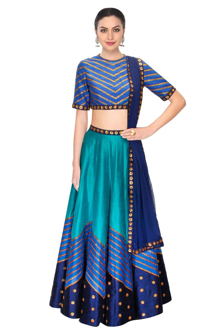 Teal Blue Colour Raw Silk Fabric Party Wear Lehenga Choli Comes with matching blouse. This Lehenga Choli Is crafted with Embroidery This Lehenga Choli Comes with Unstitched Blouse Which Can Be Stitche...