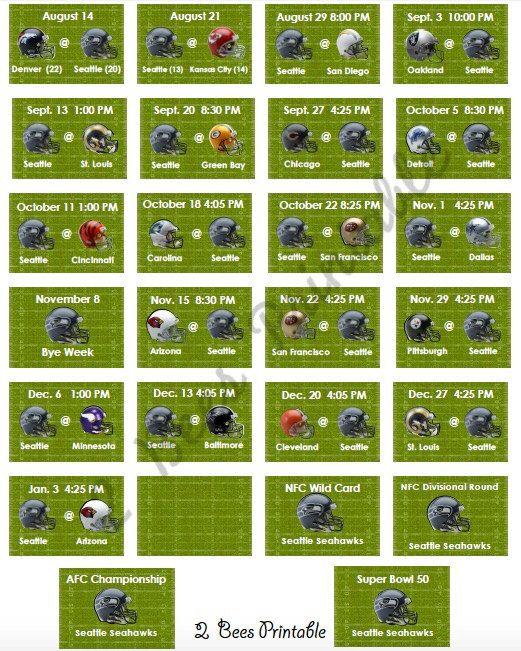 Seattle Seahawks Schedule: Best 25+ Seahawks Schedule Ideas On Pinterest
