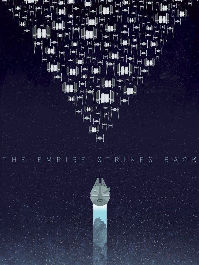 Star Wars: Episode V - The Empire Strikes Back #Poster Art by Andy Helms #starwars