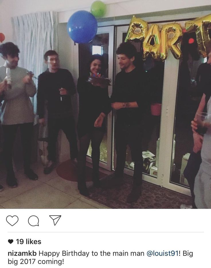 Nizam posted this picture of Calvin, Oli, Danielle and Louis at his birthday party last night. Zzzzzzhttpds