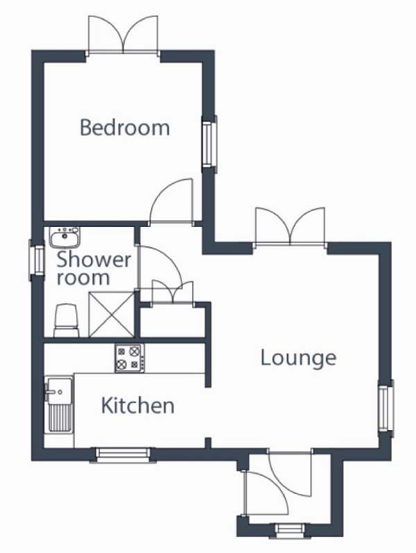 One Bedroom Tiny House Floor Plans Under 500 Sq Ft For