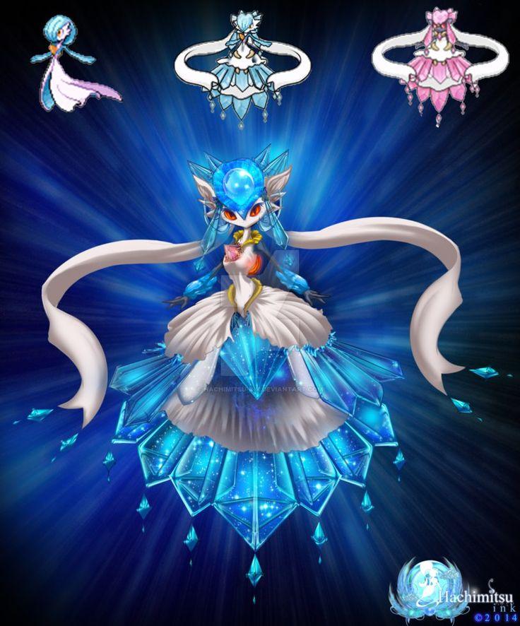 Gardiancie - Gardevoir Diancie Fusion by hachimitsu-ink on DeviantArt