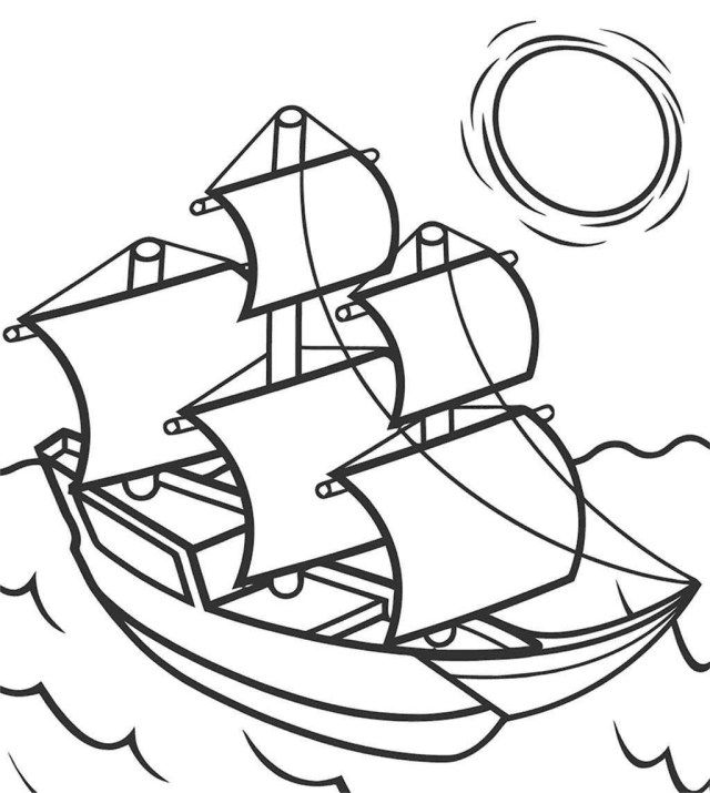 27 Creative Picture Of Mayflower Coloring Page Coloring Pages