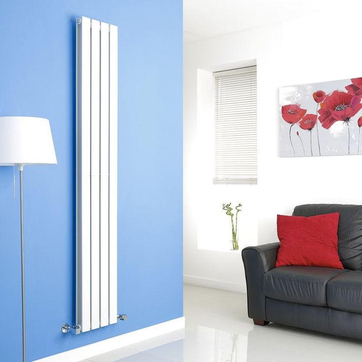 Milano Alpha - White Vertical Double Slim Panel Designer Radiator 1780mm x 280mm - Alpha - Milano - Shop By Brand - Radiators