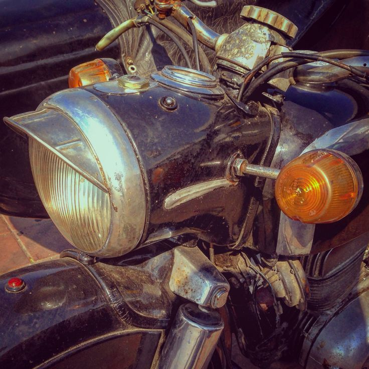 vintage motorcycle headlight
